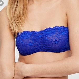 Free People Lace Strappy Back Bandeu bralette S